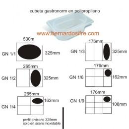 CUBETA POLIPROPILENO GN 1/3 H15